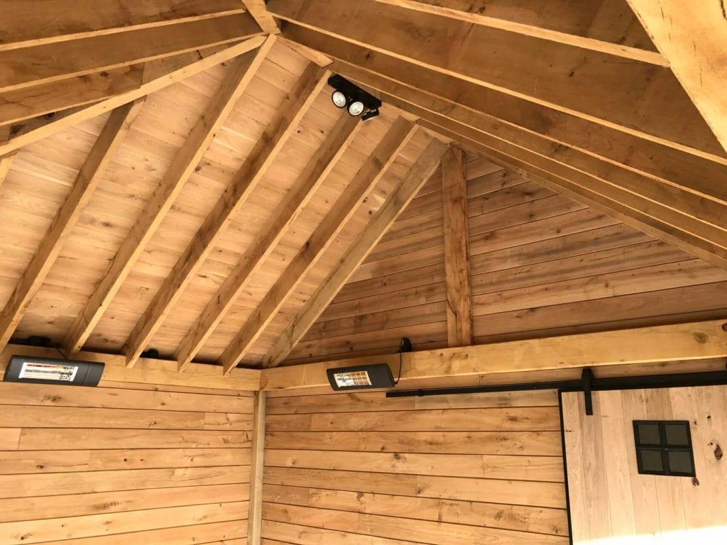 Detail eiken houten veranda