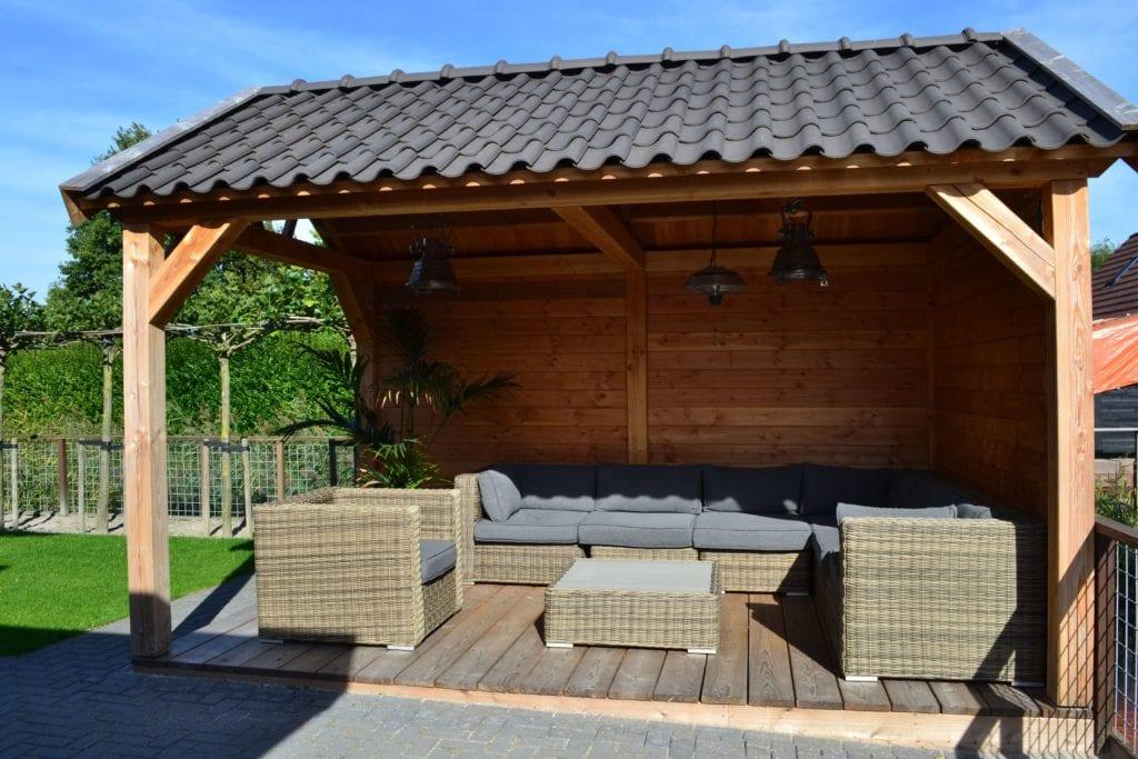 Sfeervolle veranda van Douglas hout