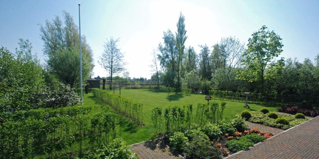Landerlijke achtertuin